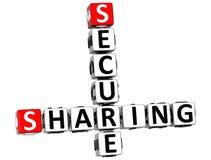 3D partageant les mots croisé sûrs Photo libre de droits