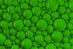 3d partijen van groene glanzende bellen royalty-vrije illustratie