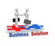 3d partner biznesowy na łamigłówka kawałku Obrazy Stock