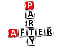 3D After Party Crossword Royalty Free Stock Photo
