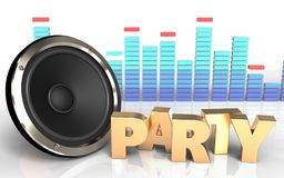 3d  party sign Royalty Free Stock Photo