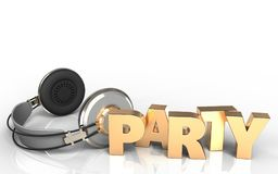 3d party sign party sign Royalty Free Stock Images