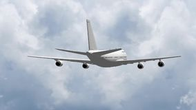 3D passenger jet plane. Passenger jet plane flying in the air - great for topics like flight, plane traveling, aviation etc. 3D animation/ 3D rendering stock video footage