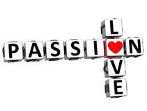 3D Passion Love Crossword text Stock Photos
