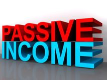Passive income sign. 3d passive income sign reflecting on studio background Stock Photo