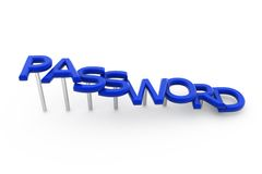 3d password concept Royalty Free Stock Images