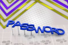 3d password illustration Royalty Free Stock Image