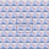 3d pastel Rose Quartz and Serenity colored triangle seamless pattern. Made up with triangular shapes. Brochure, poster, design. Wallpapers for your computer Royalty Free Stock Images