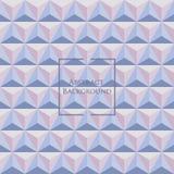3d Pastell-Rose Quartz und Ruhe färbte nahtloses Muster des Dreiecks Lizenzfreie Stockbilder