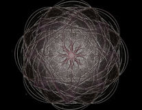 3D patroon van het illustratie kanten kleurrijke uurwerk 3D teruggevend digitaal fractal kunstontwerp vector illustratie