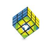 3D patroon van het stijlvoetbal op wit Royalty-vrije Stock Afbeelding