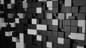 3d pattern, black and white cube abstract background royalty free illustration