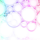 3d pattern with colorful rings over white backdrop Stock Image