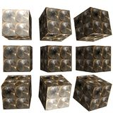 3D patterned cube. 3D solid patterned cube / box Royalty Free Stock Image
