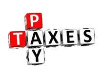 3D Pay Taxes Crossword Stock Photos