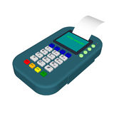 3d Payment machine. Isolated on white background. Stock Image