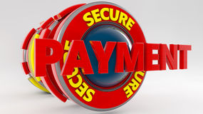3d payment text icon. 3d secure payment text icon Stock Photography