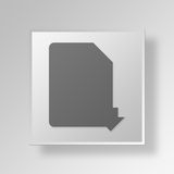 3D PDF Download icon Business Concept Stock Photography