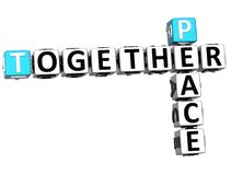 3D Peace Together Crossword. On white background Royalty Free Stock Photography