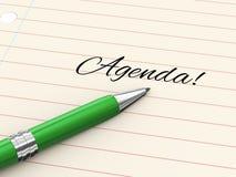 3d pen on paper - agenda Stock Images