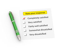 3d pen and rate your response form Stock Image