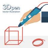 3d pen vector Royalty Free Stock Photo