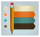 3d  Pencil Menu infographics Stock Photo