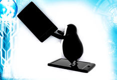 3d penguin advertisement illustration Royalty Free Stock Photos