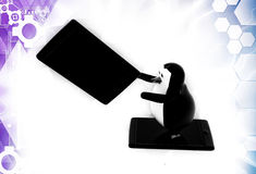 3d penguin advertisement illustration Royalty Free Stock Images