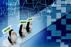 3d penguin with better cheaper faster Illustration Royalty Free Stock Photography