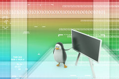 3d Penguin with blackboard Royalty Free Stock Photo