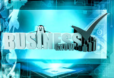 3d penguin business grow concept Royalty Free Stock Photo