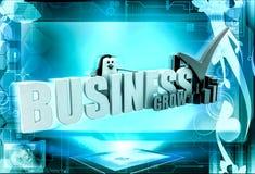 3d penguin business grow concept Stock Photo