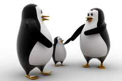 3d penguin with child concept Royalty Free Stock Image