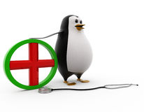 3d penguin doctor concept Stock Images