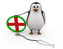 3d penguin doctor concept Stock Image