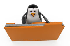 3d penguin file concept Royalty Free Stock Photography