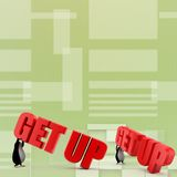 3d penguin with getup illustration Royalty Free Stock Image
