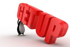 3d penguin with getup illustration Stock Photography