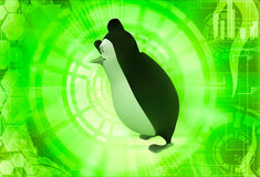 3d penguin happy and dancing illustration Stock Photo