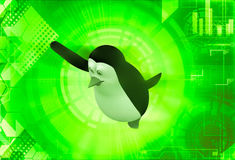3d penguin happy and dancing illustration Royalty Free Stock Photo