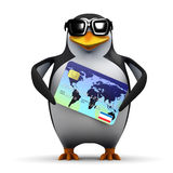 3d Penguin has credit Stock Photography