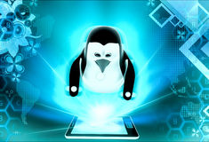 3d penguin juggling balls concept Royalty Free Stock Image