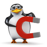3d Penguin magnet Royalty Free Stock Image