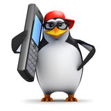 3d Penguin mobile Stock Photos