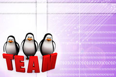 3d penguin with news illustration Royalty Free Stock Photography