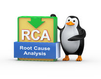 3d penguin and rca concept Royalty Free Stock Photography