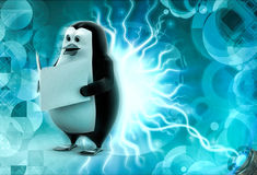 3d penguin read file concept Royalty Free Stock Photo