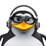 3d Penguin student chills Stock Photography