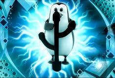 3d penguin usb symbol concept Stock Photo